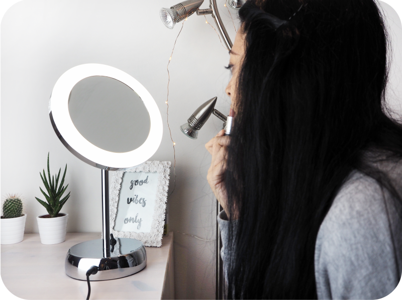 Pebble Grey Vanity Mirror