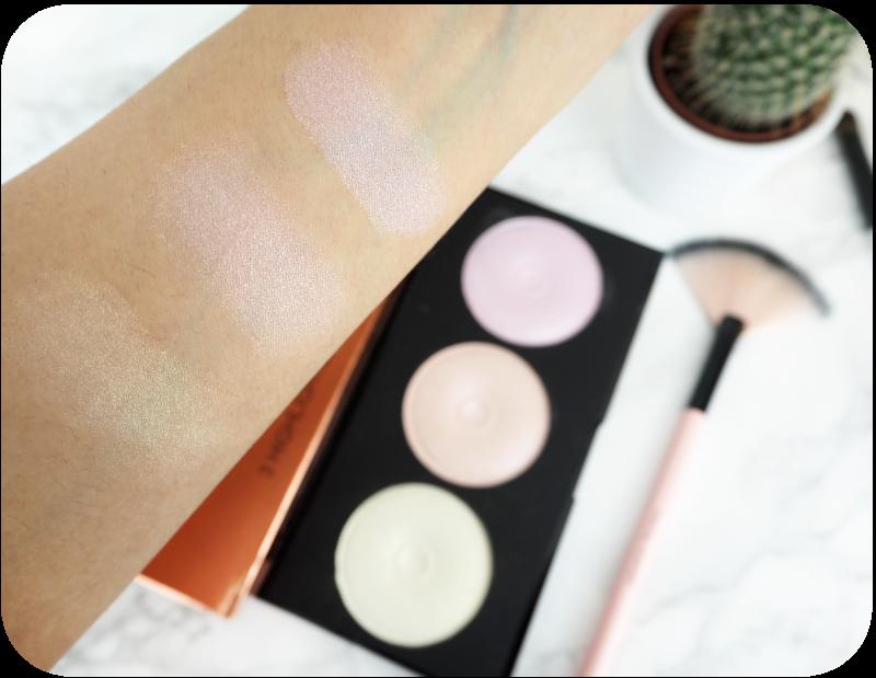 Makeup revolution highlighter palette swatch