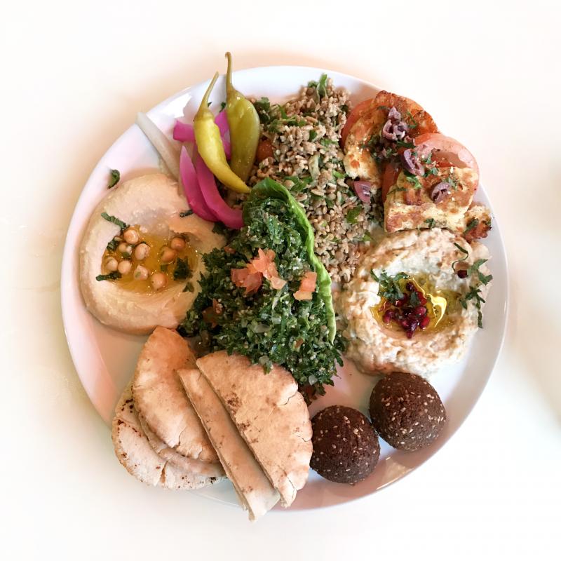 Comptoir Libanais Mezze Platter