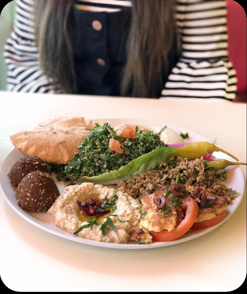 mezze platter for two comptoir libanais