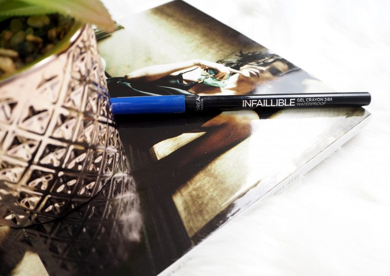 l'oreal infallible gel crayon eyeliner in the blue