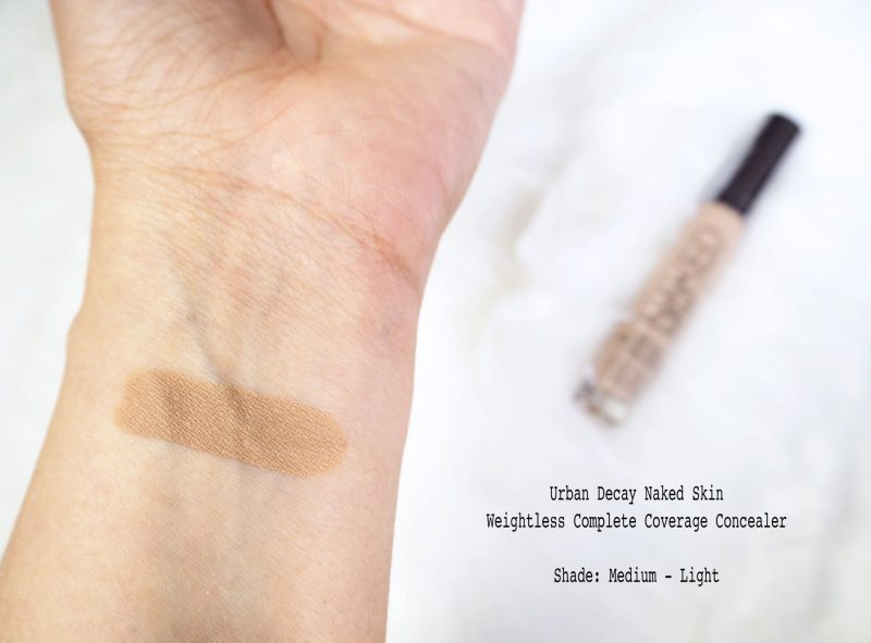 Urban Decay Naked Skin concealer medium-light swatch