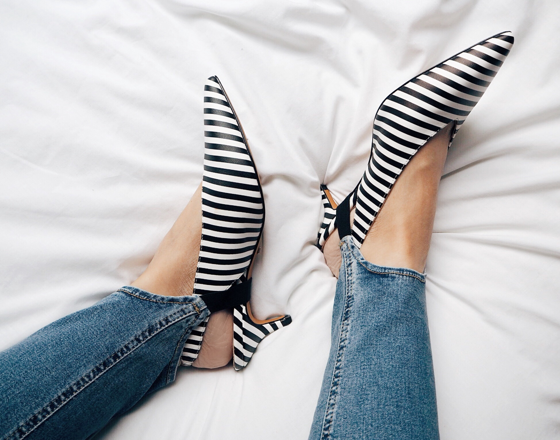 stirrup jeans with heels