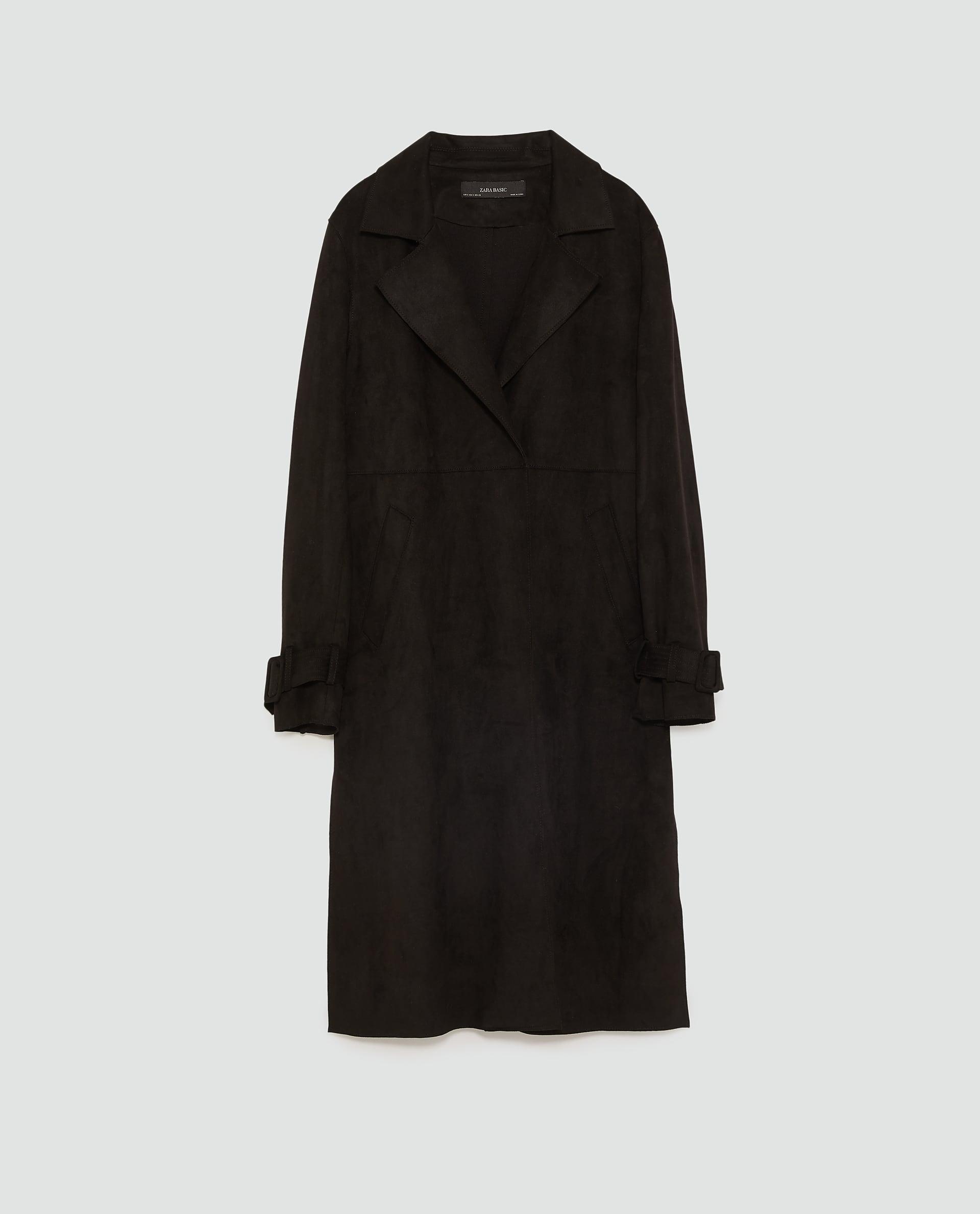 zara black trench coat