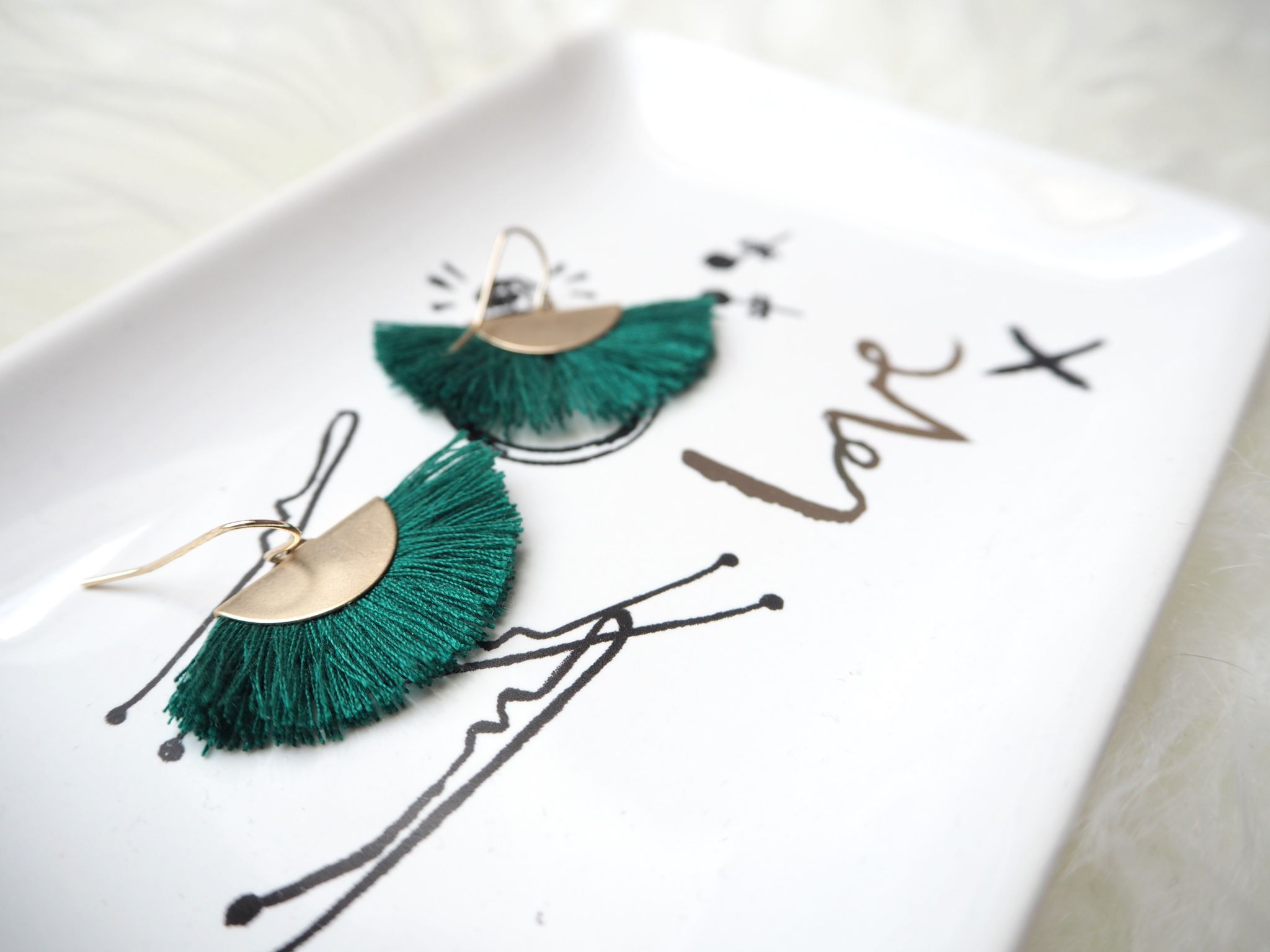 Accessorize fan earrings