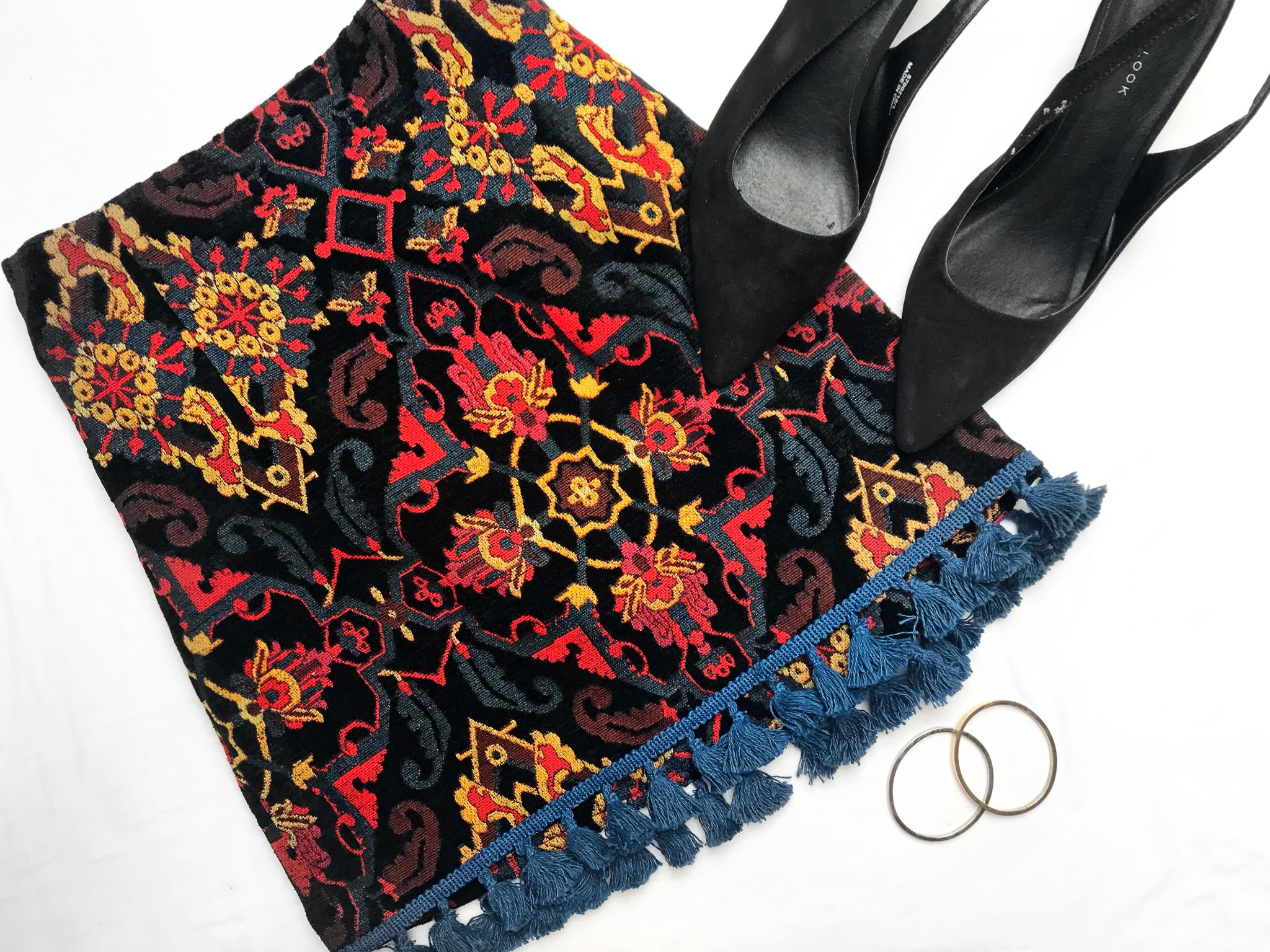 Zara tapestry tassel skirt