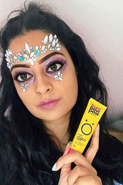 Pure Paw Paw Glitter Festival Makeup