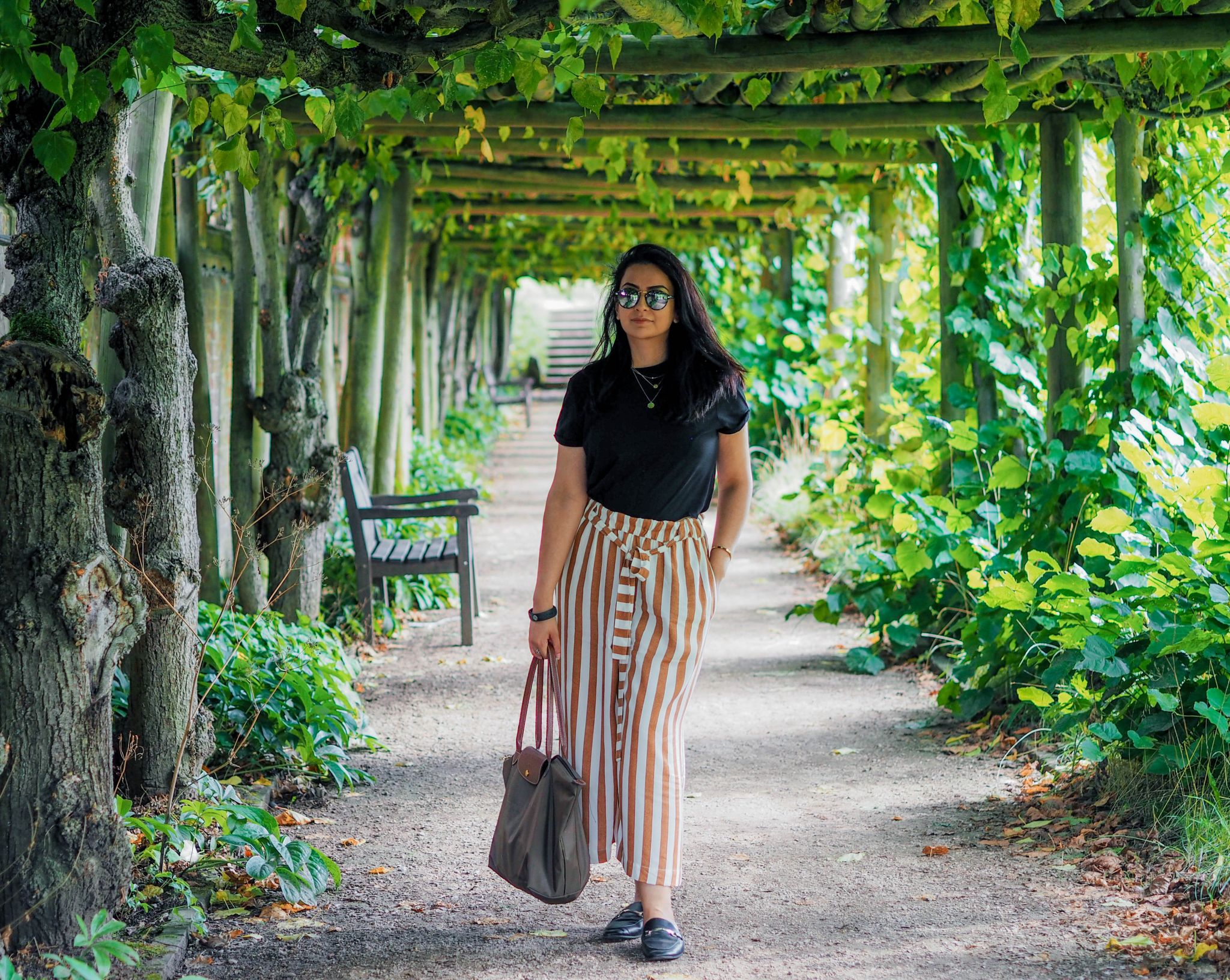 pull and bear striped trousers