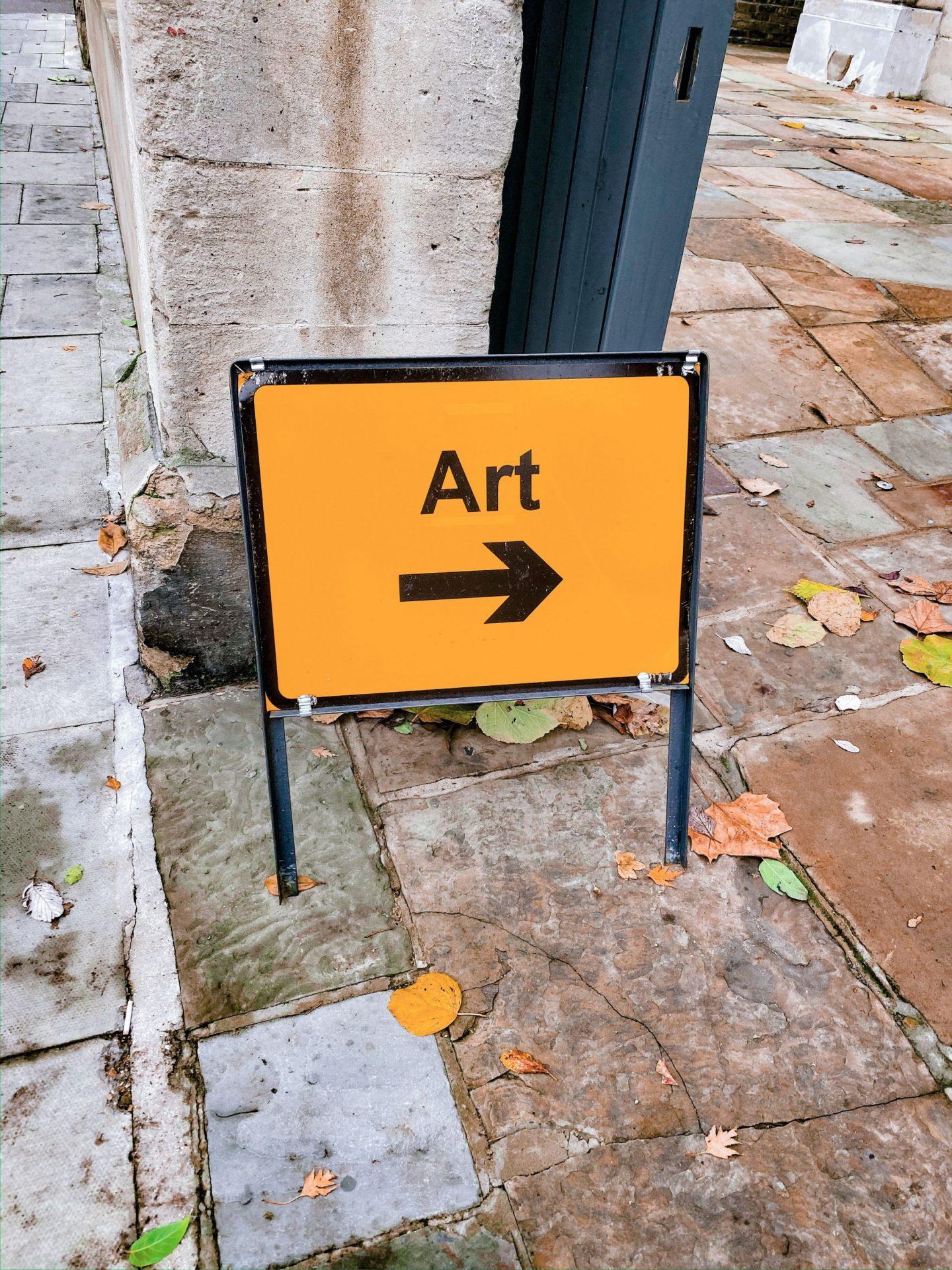 Art hazard sign